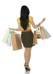 Free Asian Shopping Woman Stock Image - 25411311