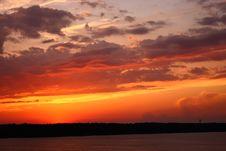 Free Sunset At The Lake Royalty Free Stock Photos - 25412568