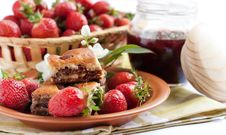 Free Strawberry Morning. Berries And Delicious Cakes Stock Photos - 25413553
