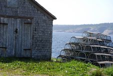 Free Lobster Pots Stack And Shack Royalty Free Stock Photography - 25416767