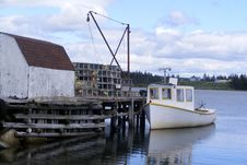 Free Down EastFishing Dock Stock Photos - 25416793