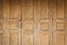Free Old Wooden Door Front View Royalty Free Stock Photos - 25417318