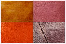 Close Up Of Leather Texture Stock Images