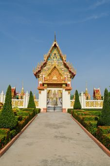 Free Thai Temple Church Door Royalty Free Stock Photos - 25418848