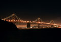 Free Bay Bridge At Night Stock Image - 25426351