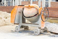 Free Cements Mixer Machine Stock Photography - 25422642