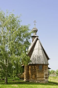 Russian Wooden Church. Royalty Free Stock Photography