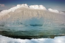 Break The Ice Floes, Close-up Stock Image