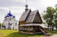 Russian Wooden Church. Royalty Free Stock Photos