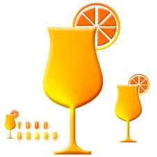 Orange Juice Illustration Royalty Free Stock Image