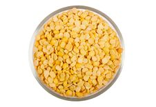 Yellow Split Peas Royalty Free Stock Images