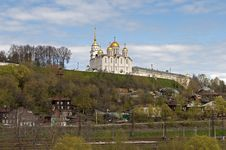 Ancient Assumption Cathedral In Vladimir, Russia Royalty Free Stock Photography