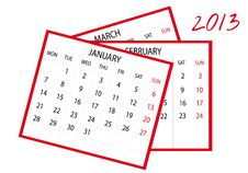 2013 New Calendar Royalty Free Stock Images