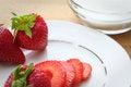 Free Strawberries And Sugar Royalty Free Stock Photo - 25435015