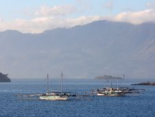 Free Traditional Indonesian Boats In The Sea Stock Photos - 25430363