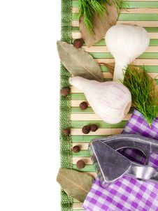 Free Background From Garlic, Pepper Royalty Free Stock Photo - 25432285