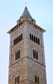 The Bell Tower Of Cathedral Of Trani (BA) Royalty Free Stock Photos