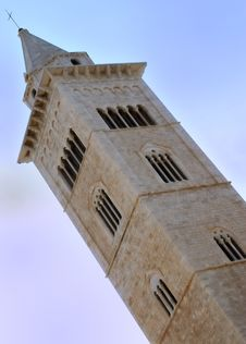 The Bell Tower Of Cathedral Of Trani (BA) Stock Images