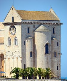 Rear View Cathedral Of Trani &x28;BA&x29; Stock Photo