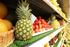 Free Pineapple And Fresh Fruits And Vegetables Royalty Free Stock Photo - 25432935