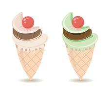 Free Ice Cream Cones Stock Photography - 25433402