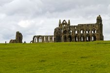 Whitby Abbey Across The Field Royalty Free Stock Photos