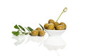 Free Green Olives Over White. Stock Photography - 25440752