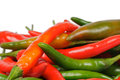 Free Arrangement Of Chili Peppers Royalty Free Stock Photos - 25446118