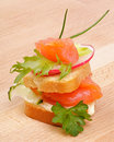 Free Appetizer Of Smoked Salmon Royalty Free Stock Photography - 25446147