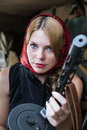 Free A Girl And A Gun Royalty Free Stock Photo - 25448805