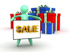 Free Gift Box Sale Stock Images - 25444864