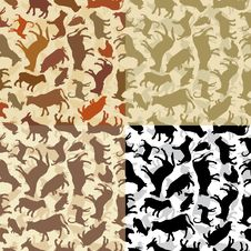 Free Background With A Silhouettes Of Animals Royalty Free Stock Photography - 25445037
