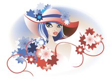 Free Retro Lady In A Hat Stock Photo - 25445060