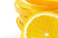 Free Stack Of Sliced Oranges Frame Royalty Free Stock Photography - 25446107