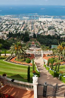 The Bahai Gardens In Haifa Israel Stock Images
