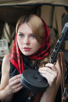 Free A Girl And A Gun Stock Photos - 25448833
