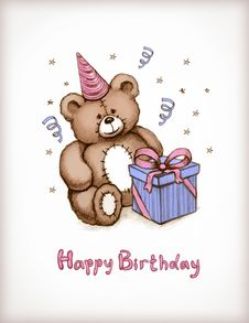 Free Birthday Card Royalty Free Stock Photography - 25449107