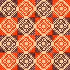 Seamless Checked Texture. Stock Images