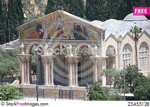 Free Church Of Gethsemane, Jerusalem Royalty Free Stock Photos - 25455128