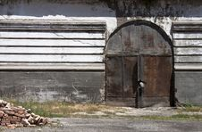 Old Gate - RAW Format Royalty Free Stock Photo