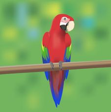 Free Red Macaw Parrot Stock Photo - 25452440