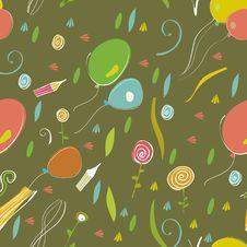 Free Kids Pattern Wallpaper Stock Photography - 25452672