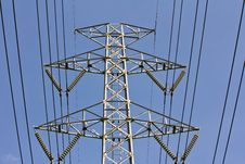 Free High Voltage Tower Royalty Free Stock Image - 25454536