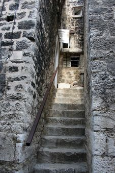 Stairs In Croatia Royalty Free Stock Image