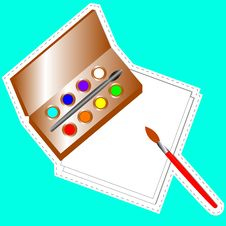 Free Set For Drawing Stock Images - 25455284
