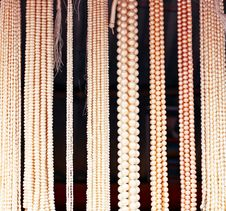 Colorful Pearl Strings Stock Photo