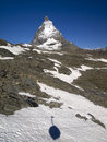 Free Matterhorn And The Shadow Of Swiss Gondola Royalty Free Stock Photo - 25466475