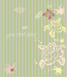 Free Rose . Postcard . Stock Photo - 25462930
