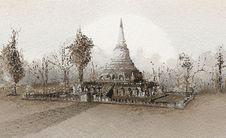 Free Thai Temple Royalty Free Stock Photos - 25465738