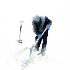 Free Snow Shovel Stock Images - 25466184